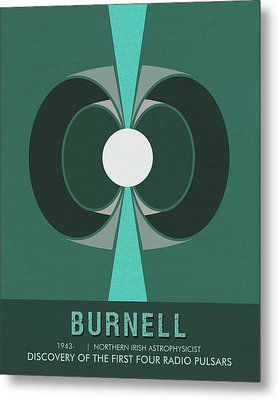 Science Posters - Jocelyn Bell Burnell - Irish Astrophysicist Metal Print