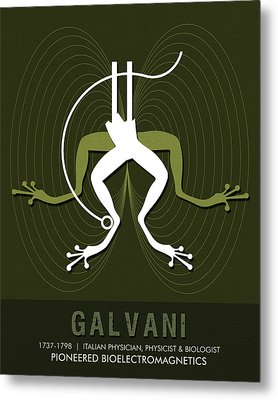 Science Posters - Luigi Galvani - Physician, Biologist, Physicist Metal Print