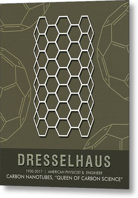 Science Posters - Mildred Dresselhaus - Physicist, Engineer Metal Print