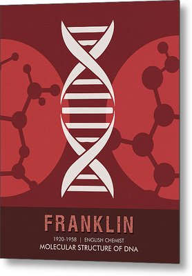 Science Posters - Rosalind Franklin - Chemist Metal Print