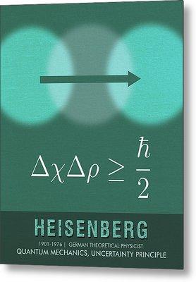 Science Posters - Werner Heisenberg - Theoretical Physicist Metal Print