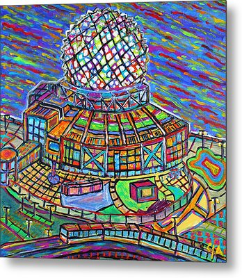 Science World, Vancouver, Alive In Color Metal Print by Jeremy Aiyadurai
