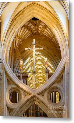 Scissor Arches, Wells Cathedral Metal Print