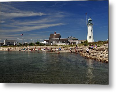 Scituate Light Metal Print by Mike Martin