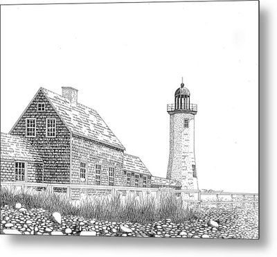 Scituate Lighthouse Metal Print by Tim Murray