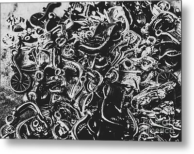 Scooter Mechanics Abstract Metal Print