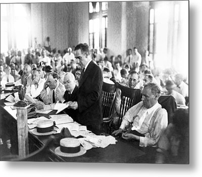 Scopes Trial, July 10�, 1925, Dayton Metal Print by Everett