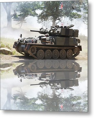 Scorpion Reflection Metal Print