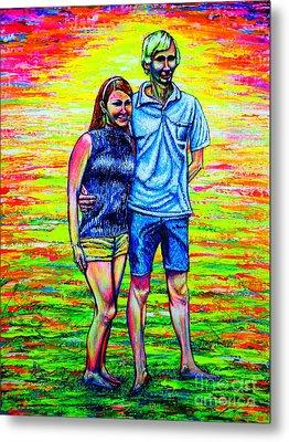 Scott Ross And Wife Metal Print by Viktor Lazarev