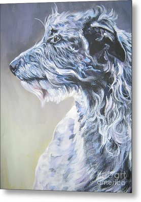 Scottish Deerhound Metal Print by Lee Ann Shepard