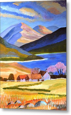 Metal Print featuring the painting Scottish Highlands 2 by Magdalena Frohnsdorff