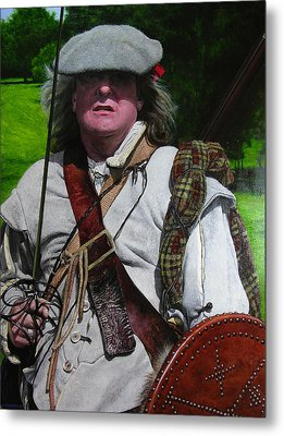 Scottish Soldier Of The Sealed Knot At The Ruthin Seige Re-enactment Metal Print by Harry Robertson