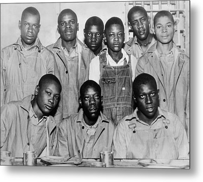 Scottsboro Boys In Jefferson County Metal Print by Everett