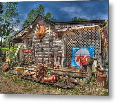 Scrap House Metal Print by Jimmy Ostgard