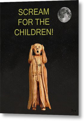 Scream For The Children Metal Print