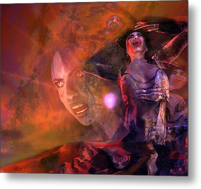 Scream Metal Print by Monroe Snook