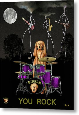 Scream Rock Soul Metal Print by Eric Kempson