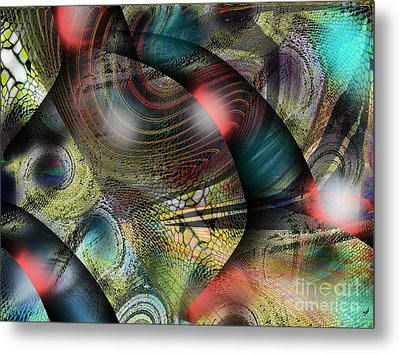 Screaming Spirals Metal Print