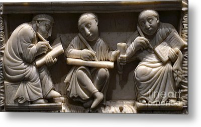 Scribes, 10th Century Metal Print by Science Source
