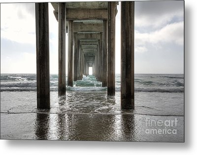 Scripps Pier Metal Print by Eddie Yerkish