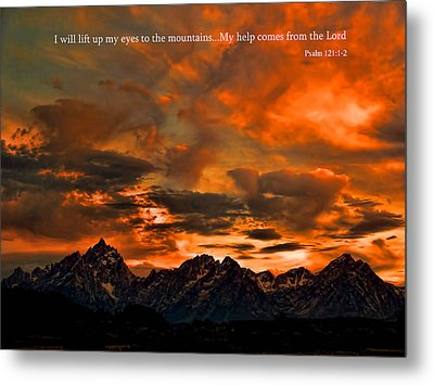 Scripture And Picture Psalm 121 1 2 Metal Print by Ken Smith