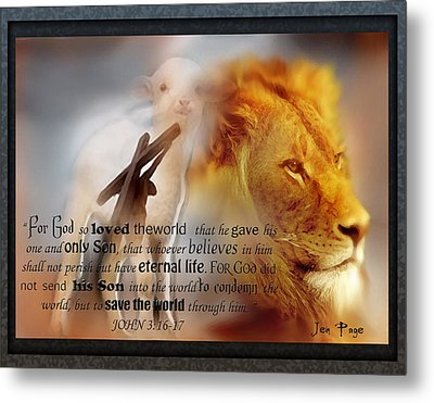 Scripture Art    Lamb Of God Metal Print