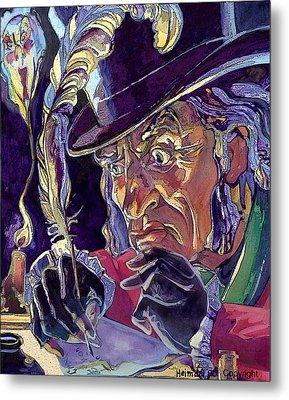 Scrooge And Marley's Ghost Metal Print