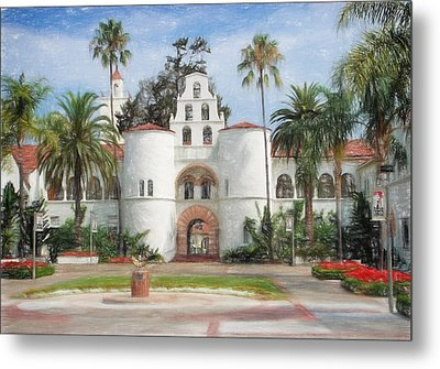 Sdsu Drawing Metal Print