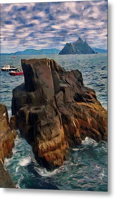Metal Print featuring the painting Sea And Stone by Jeff Kolker