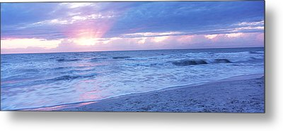 Sea At Dusk, Gulf Of Mexico, Naples Metal Print by Panoramic Images