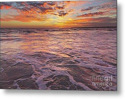 Sea At Sunset In Algarve Metal Print by Angelo DeVal
