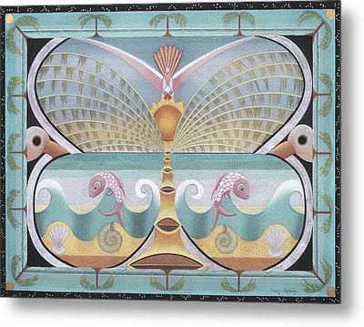 Sea Butterfly Metal Print by Sally Appleby