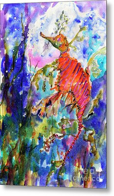Sea Dragon Wonderland Metal Print by Ginette Callaway
