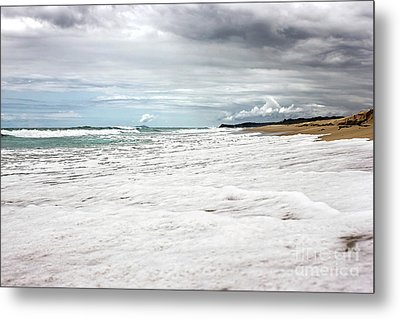 Metal Print featuring the photograph Sea Foam And Clouds By Kaye Menner by Kaye Menner