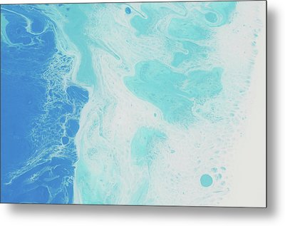 Metal Print featuring the painting Sea Foam by Nikki Marie Smith