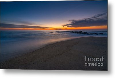 Sea Girt Sunrise New Jersey  Metal Print by Michael Ver Sprill