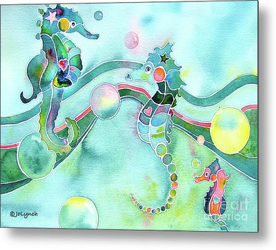 Sea Horses Dance Prints  Metal Print