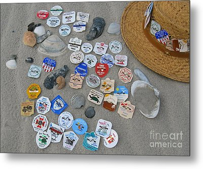 Sea Isle City Beach Tags Metal Print