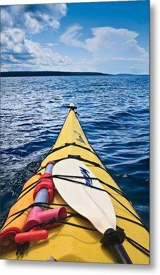 Sea Kayaking Metal Print by Steve Gadomski