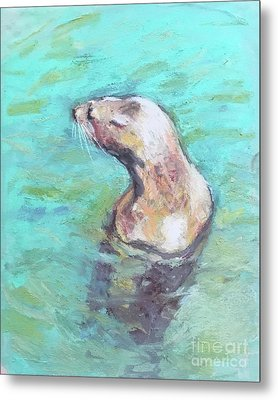 Sea Lion Metal Print by Yoshiko Mishina