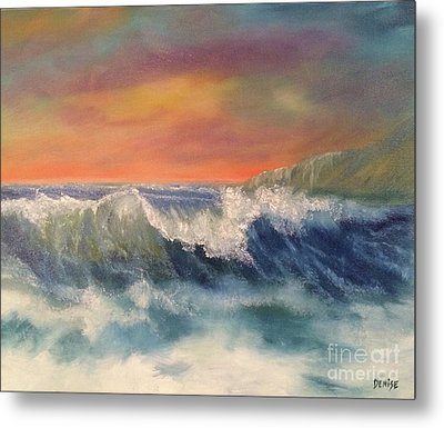 Metal Print featuring the painting Sea Mist by Denise Tomasura
