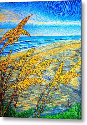 Sea Oats Dual#2 Metal Print