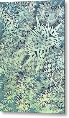 Sea Of Flakes Metal Print by AugenWerk Susann Serfezi