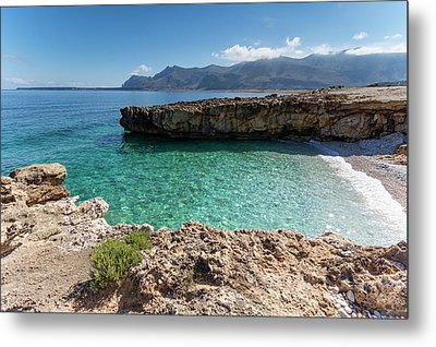 Sea Of Sicily, Macari II Metal Print by Davide Damico
