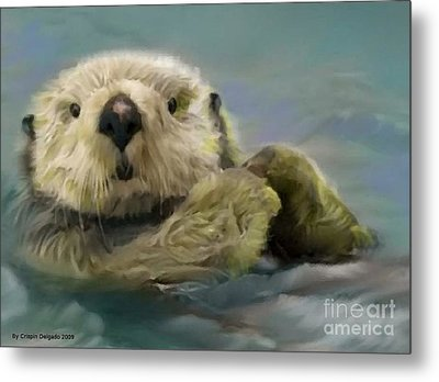 Sea Otter Metal Print by Crispin  Delgado