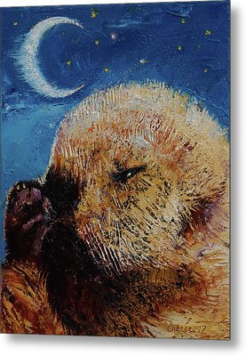 Sea Otter Pup Metal Print