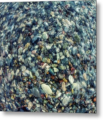 Sea Pebbles Metal Print by Stelios Kleanthous