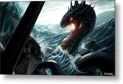 Sea Serpent Metal Print