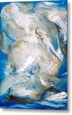 Metal Print featuring the painting Sea Shells by M Diane Bonaparte
