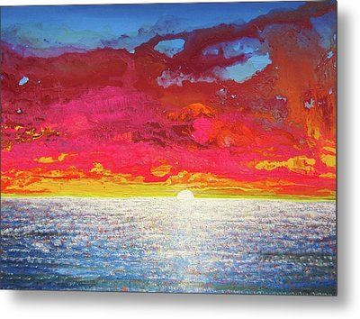 Metal Print featuring the painting Sea Splendor by Mary Ellen Frazee